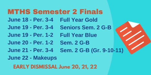 Final Exam Schedule Semester 2