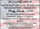 MTHS 15th Annual Veterans Recognition Ceremony