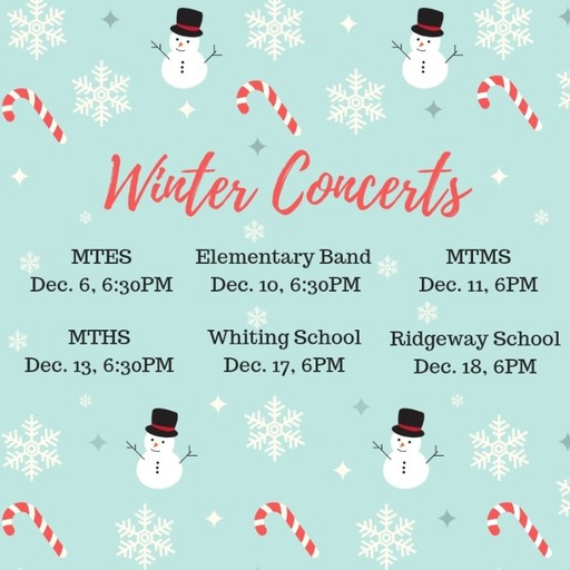 Winter Concerts at Manchester Schools