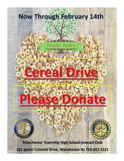 MTHS Interact Cereal Drive