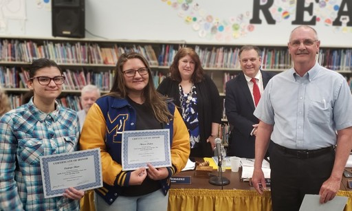 BOE Honors Girls Bowling Champs