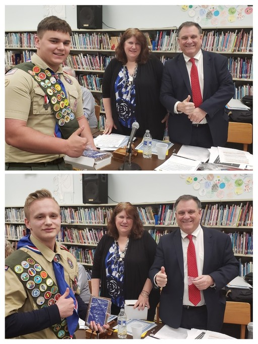 BOE Honors Eagle Scouts