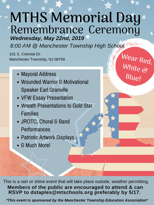Manchester High to hold Memorial Day Ceremony May 22
