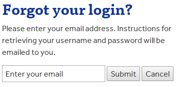 Forgot login form