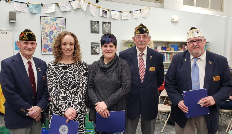 VFW Teachers of the Year with VFW representatives