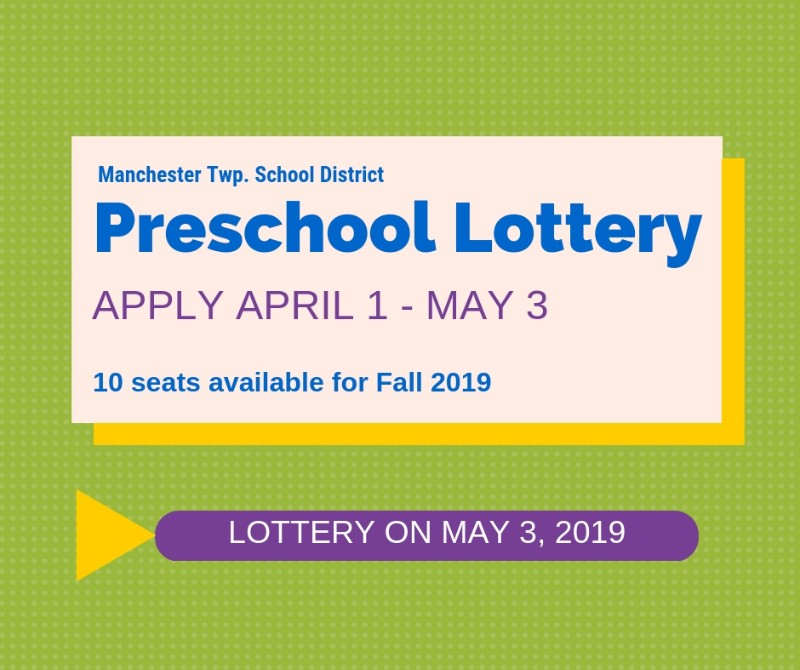 Preschool lottery - apply April 1-May 3